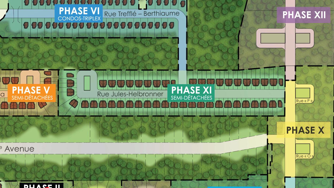 Terrains pour maisons neuves contemporaines à Rivière-des-Prairies : Phase XI